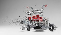 Exploded Cars by Fabian Oefner12 #explosion #car #art