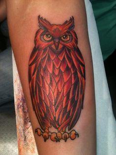 Daniela Salgado / Pinterest #tattoo #corporal #owl #art