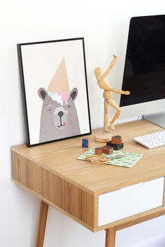 #nordic #design #graphic #illustration #danish #simple #living #interior #kids #room #poster #bear #icecream #cone #teddy #sweet