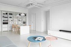 Minimalist White Apartment – Tsai Residence by Tai & Architectural Design