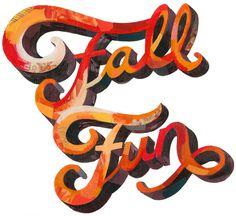 FallFun800wide.jpg #lettering #fall #orange #type #typography