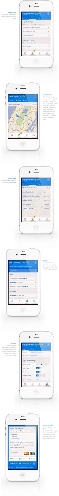 Noteworthy app concept #iphone #app