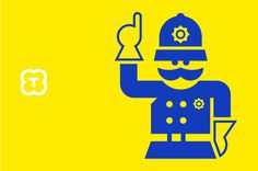 Torosaurus kids webshop on Behance #icon #police #design #man #uniform