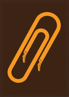 fukuda 021 #shigeo #fukuda #yellow #clip #simple #brown