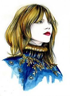 Caroline Andrieu Fashion Illustrations – Illustration inspiration on MONOmoda