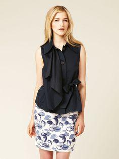 Hanii Y Belted Linen Cascade Vest #fashion #gilt #vest