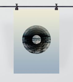 Astral Sea #ocean #circle #sky #sarita #sydney #design #graphic #round #wave #earth #beautiful #saritawalsh #sea #minimal #gradient #blue #walsh #pastel