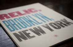Relic Color Poster on yay!everyday #print #typography #poster #york #brooklyn #new