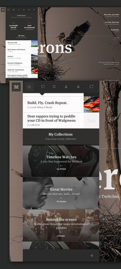Medium: Collection Concept on Web Design Served #design #web