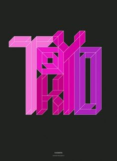 Andreas Neophytou #pink #type #magenta #geometric