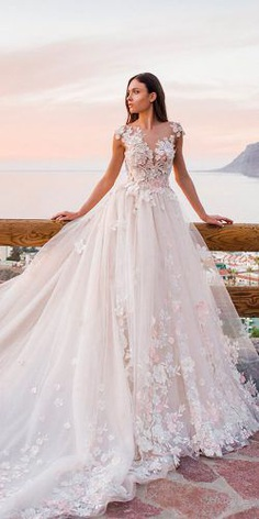 "Oksana Mukha wedding dresses 2019 will take your breath away. A wedding collection called ""The Sea of Senses"" shows romantic luxurious wedding dresses."