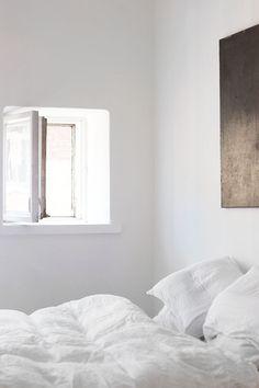 White bedroom. #minimal #bedroom