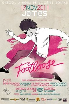 At the Movies - Footloose #illustration #footloose #poster