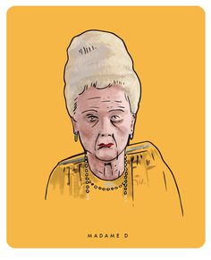 Madame D - The Grand Budapest Hotel #budapest #michael #grand #wes #anderson #illustration #constantine