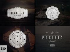 Vintage Logo Set:Volume Two #logos #design #graphic #vintage #typography