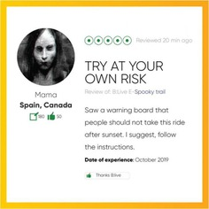 We're getting some amazing reviews for our Spooky Special Trail. If you don't have any Halloween plans yet, book your seat for this specially curated scray trail and be in for a shock! . . . Only a few seats left. #letsblive #eco #tours #ebikes #discovery #travel #instatravel #wanderlust #swadesdarshan #funoverfuel #goO2noCO2 #moresmileslesssweat #fun #ev #sustainabletourism #ecotourism #halloween2019 #spookytrail #Friday #TGIF #happyhalloween #spookyspecial #horrorfan #hauntedgoa #hauntedmansion #hauntedplaces #31oct #halloweenplans