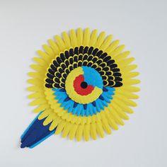 Australian Birds Paper Art #paper #colours