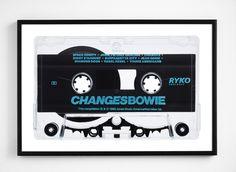 David Bowie - Changes cassette - Limited edition of 10 - © Julien Roubinet #cassette #tape #bowie