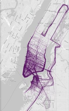 NEW YORK - where people run #running #infographic #map