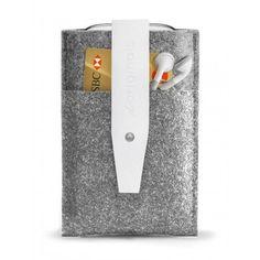 Mujjo Samsung Galaxy S3 Wallet - White Leather Edition - 100% Wool Felt #white #wallet #s3 #felt #galaxy #wool #mujjo