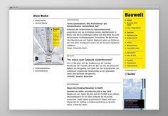 Bauwelt | Edenspiekermann #website #magazine