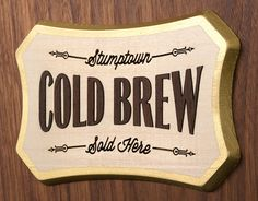 Stumptown Cold Brew: Plaques, Clocks & More / The Official Manufacturing Company #logo #cold #stumptown #brew