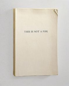 sublimespy:nnSteve Wolfe Untitled (This Is Not A Pipe) 1987-1988 Oil, enamel, ink transfer, modeling paste, masonite and wood 7Â 5/8 x 5 #type #design #book #art