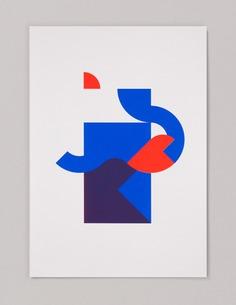 2 color grid #1 - printmakingmoneygang