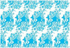 coqueterías - FFFFOUND! | katie kirk illustration - selected... #bambi #pattern #katie #turquoise #kirk