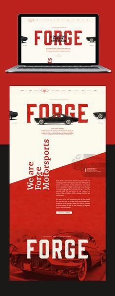 web design, red, vintage