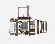mamiya_1.jpg 640×512 pixels #camera #illustration