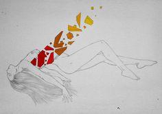 Illustration by Leonardo Arenas #woman #draw #poem #illustration #art #sketch