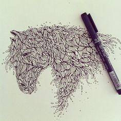 744c77121e8111e2b62322000a9f12da_7 #horse #drawing #animal #ilustration #organic