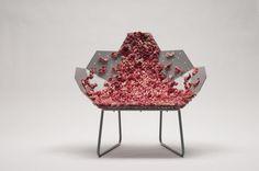 Modular Blush Chair Furniture #interior #design #decor #home #furniture #architecture