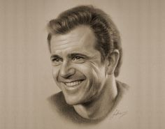 Mel Gibson - pencil art #pencil #art