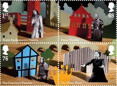 Creative Review - hat-trick design's commemorative RSC stamps #collage #post stamp #paper cut