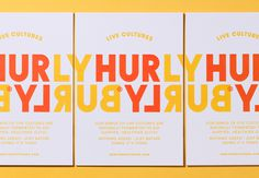 Brand identity and print by London-based Midday Studio for Hurly Burly's latest range of raw slaw