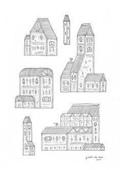 jean de wet - Archive #wet #de #illustration #houses #jean