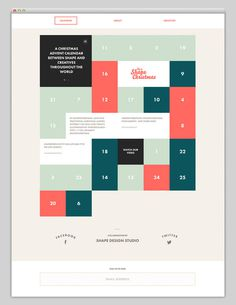 Its Shape Christmas #grid #layout #calendar #website #web #web design