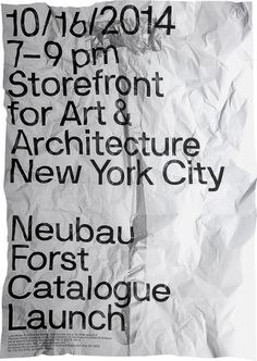 "printdesign: ""Limited Edition Print of Neubau's NBF NYC Poster Series 2014. """
