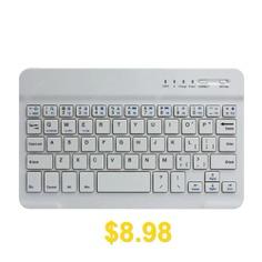 Slim #Aluminium #Wireless #Bluetooth #Tablet #Keyboard #- #WHITE