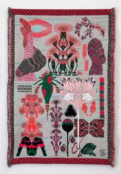 nordenburo:KUSTAA SAKSII'm totally amazed by the tripping weavings of Finnish designer and artist Kustaa Saksi. His serie of modern tapest #pattern #graphic #tapestry #glitch #art