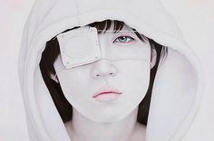 04_Adios_194X130cm_.jpg 550×365 pixels #white #yup #kwon #asian #portrait #kyung #painting #face
