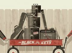 The Black Keys Poster by DKNG Studios #black #poster #keys