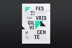 Festivais Gil Vicente 2011 on the Behance Network #design #graphic #poster #typography