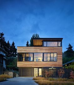Modern Refuge for an Active Couple: Cycle House in Seattle #architecture #modern