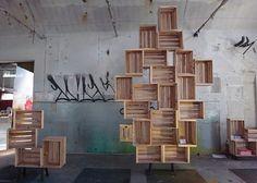 Regalsystem aus Südtiroler Apfelholzboxen Tipp des Tages [SCHÖNER WOHNEN] #regal #box #holz