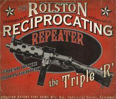 rolston_ad.jpg (1024×878) #weapons #steampunk #videogames #vintage #ephemera