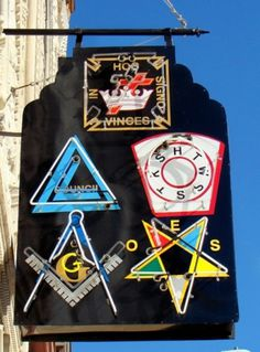 Things #sign #masonic #neon