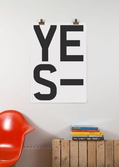 build yes poster #design #yes #poster #typography